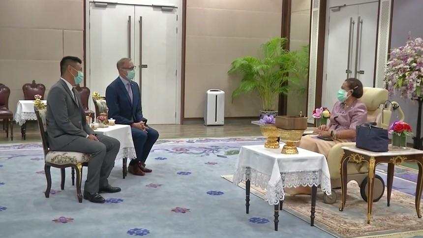กรมสมเด็จพระเทพฯ พระราชทานพระราชวโรกาสให้เอกอัครราชทูตสหราชอาณาจักร ประจำประเทศไทย เฝ้าฯ